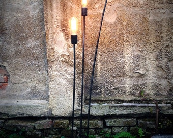 Handmade industrial floor lamp