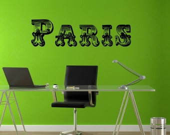 Paris Wall Mural Fashion France Sticker Decal vm328