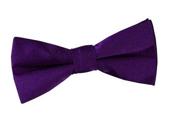 Satin Purple Boy's Bow Tie