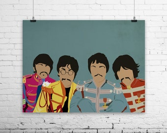 The Batles Sgt. Peppers Poster -digital file - instant download!