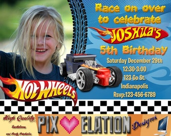 Hot Wheels Photo invitation, Hot Wheels birthday invitation, Hot Wheels party, Hot Wheels printable, Hot Wheels favor, Hot Wheels decoration