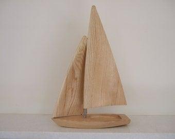 Model Laser II Sailing Dinghy in Ash