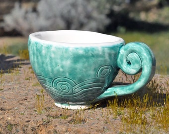 A little bit of sea to your morning coffee, cappuccino cup, teacup, sea cup,