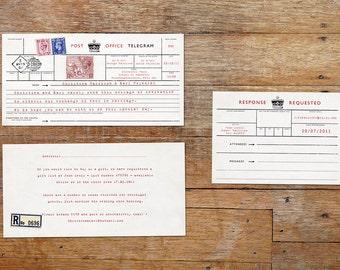 Telegram wedding invitation