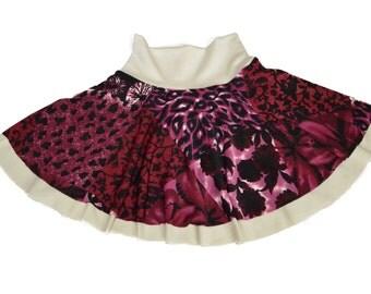 Reversible Super-Soft Komfy Skirt ~ Scarlet Rose