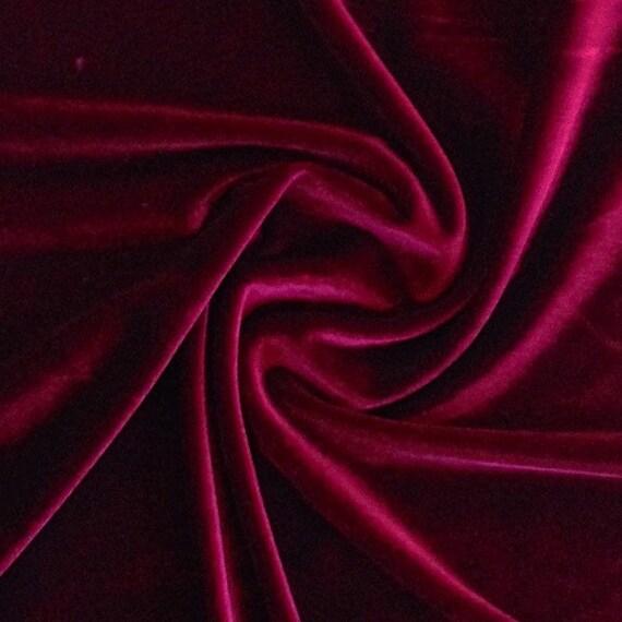 Burgundy stretch velvet fabric 60 39 39 wide by the yard - Velvet great option upholstery ...