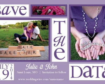 Custom Save The Date Invitation Digital Printable - any color, any date