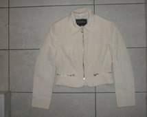 gianni versace jacket coat vintage white 100% authentic S