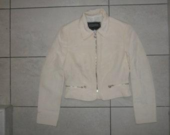 gianni versace jacket coat vintage white 100% authentic S