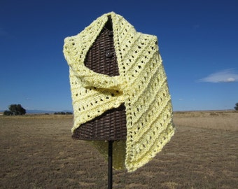 Sunshine Yellow Shawl