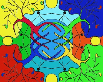 One World, colourful Mandala