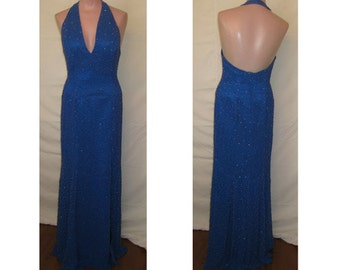 Electric blue gown #7503