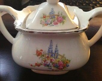 W.S. George Vintage Creamer and Sugar Bowl
