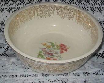 Sale!!! From 45.00 Vintage Homer Laughlin Eggshell Nautilus Large Serving Bowl/Homer Laughlin Dinnerware