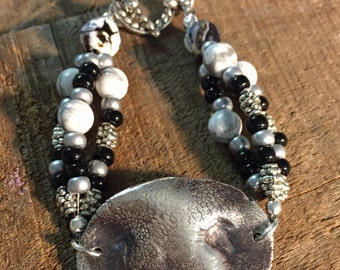 Custom triple strand beaded dog nose bracelet