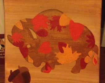 Fall Buffalo Painting