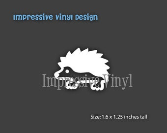 Stick Family Custom Black or White Hedgehog Pet Vinyl Decal Sticker Laptop Mailbox Car Truck Van Auto Window