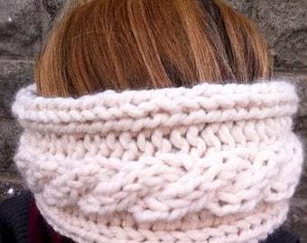 Cable Knit Fleece Lined Headband Ear Warmer