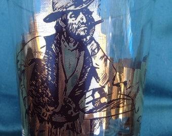 Vintage Cowboy/ western bar glass set of six