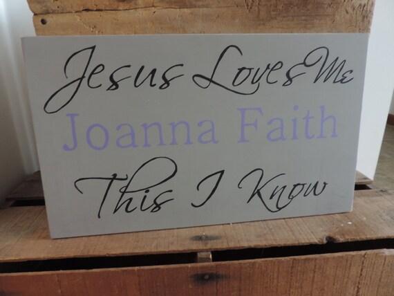 Jesus loves me personalized sign nursery decor nursery sign baby