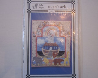 "Noah's Ark mini quilt pattern aq13, 23""x28"", Hollie Designs,vintage"