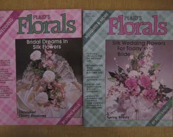 2 booklets, Plaid'sFlorals, Wedding 15 projects corsages,boutonneires,hair combs;and Bouquets and more, 12 floral projects for weddings