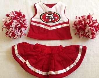 49ers 18 inch doll cheerleading outfit