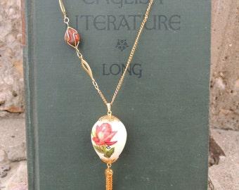 One of a Kind Egg Tassle Necklace