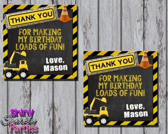 Printable CONSTRUCTION FAVOR TAGS - Construction Birthday Party Favor Tags - Little Worker Favor Tags - Construction Themed Party Favors