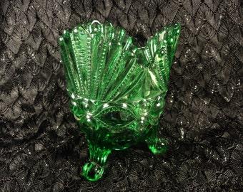 Vintage Mosser Glass Spooner Eyewinker Pattern