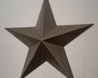 Hanging metal 5 point star
