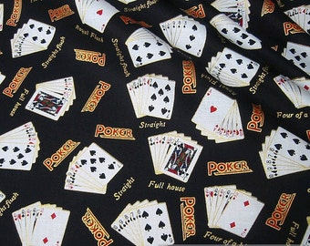 Fabric cotton Poker poker playing cards game table fabric