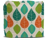 Pouf and Cover Leaf Pattern -Choose Large or Small Size