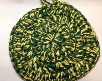 Handmade John Deere Crochet Pot Holder