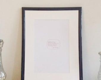 Jane Austen Quote - red on white - DIN A4 - handwritten original by misssfaith