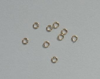 Gold Filled, Open Jump Rings, You pick quantity, 3mm, 22 gauge, small jump rings, Fast Shipping from USA