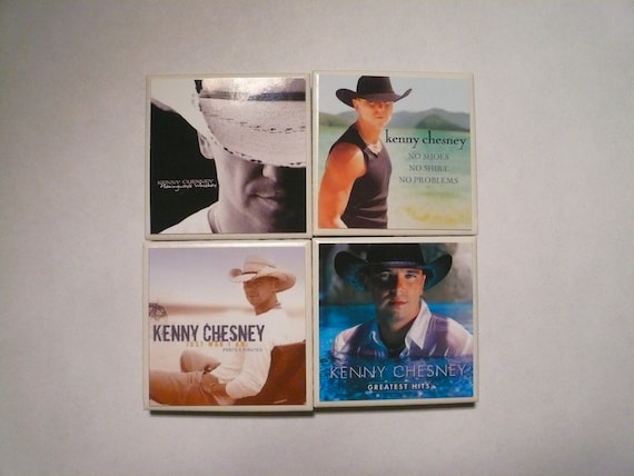 Set Of Four Kenny Chesney Magnets 2x2 Inch By Majorlymagnetic