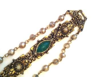 Baroque Style Bracelet // Estate Jewelry