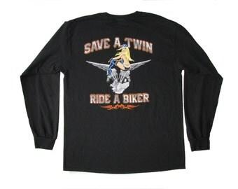 Ride A Biker: Long Sleeve T-shirt