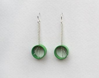 O-ear, modern, industrial, geometric, earrings