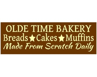 Primitive Stencil for Signs, Olde Time Bakery, Breads, Cakes, Muffins, Kitchen (#606)