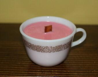 Unique Pyrex Mug Soy Candle