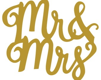 Mr & Mrs Decal / Small Decal / Petite Decal / Tiny Decal / Wedding Decal