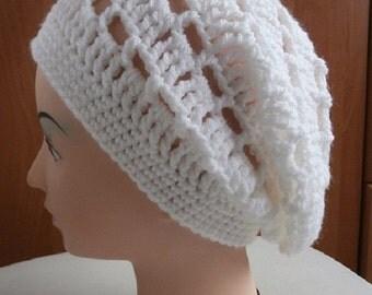 Crochet hat white