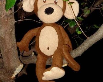 In Hoop Stuffed Monkey
