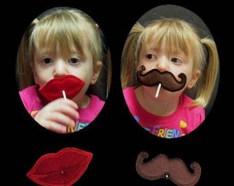 In Hoop Lollipop Lips and Mustache