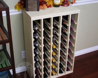 40 Bottle Premium Table Wine Rack (Pine) by VinoGrotto