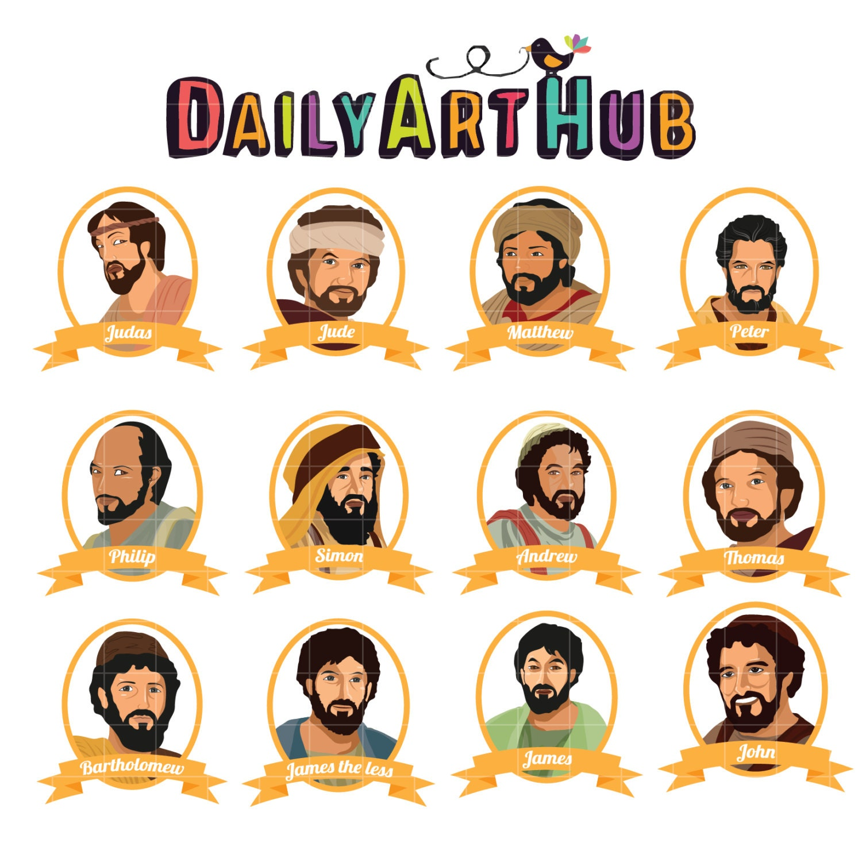 12 Disciples Of Jesus Clip Art Christian Clip Art Followers