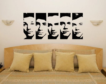 Superieur One Direction Faces Bedroom Wall Art Sticker Picture Decal