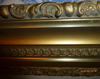Large Gilt Frame & Reverse Painting on Glass